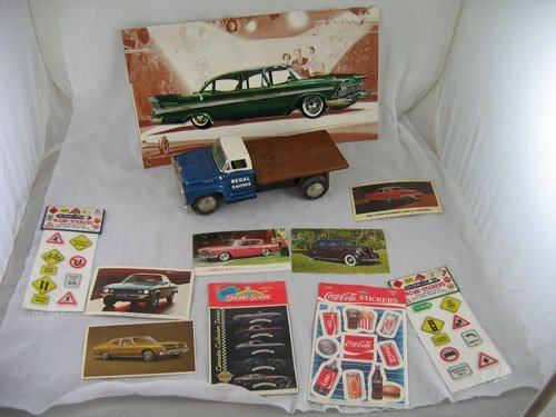 1203119: 1961 FORD MODEL TRUCK, 1958 BELVEDERE ADVERTIS