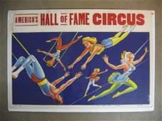 1203139 1930S AMERICAS HALL OF FAME CIRCUS POSTER FU