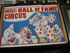 1203141 3 1930S CIRCUS POSTERS AMERICAS HALL OF FAME