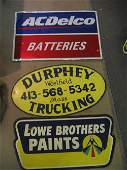 GROUPING OF 4 VINTAGE SIGNS, INCLUDES DURPHEY