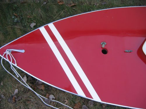 1210101A: RED AMF SUNFISH SAILBOAT COMPLETE WITH SAIL - 4
