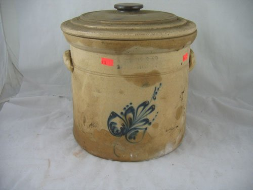 1217111: NORTON BLUE DECORATED CROCK
