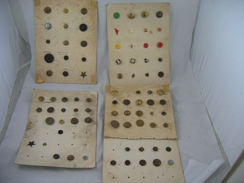 1217112: 50+ ANTIQUE CARVED MILITARY BUTTONS