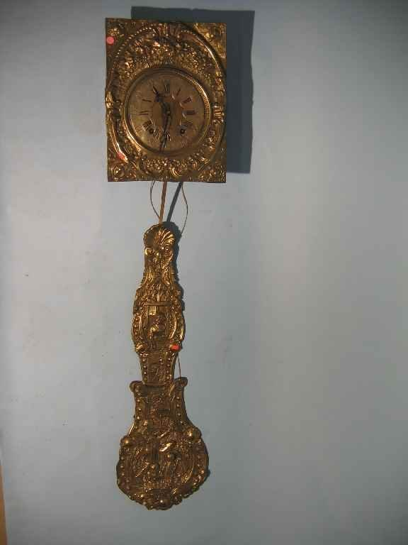624102: 19TH CENTURY FRENCH BRASS REPOUSSÉ  WAG ON WALL
