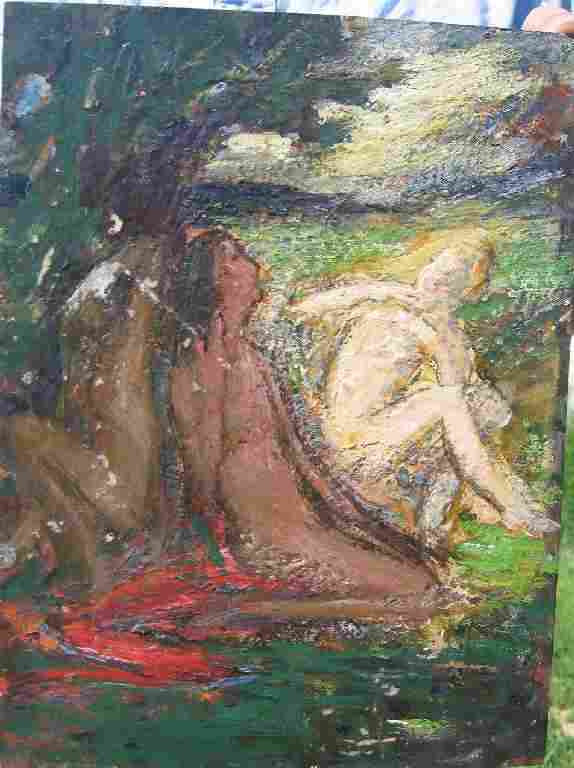 THREE GRACES OIL PAINTING BY THERESA BERNSTEIN
