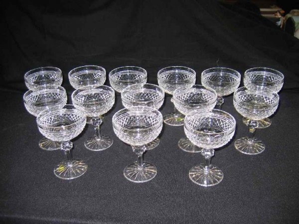 """624119A: 14 """"CASTLETOWN"""" WATERFORD CRYSTAL SHERBETS"""