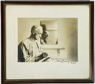 A WALTER BOYD PHOTO OF HARVEY CUSHING signed by both