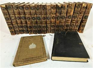 A LOT OF LEATHER BOUND BOOKS INCLUDES WASHINGTON