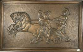"""A BRONZE NEOCLASSICAL PLAQUE  SIGNED A GILLES 38"""" X 24"""""""