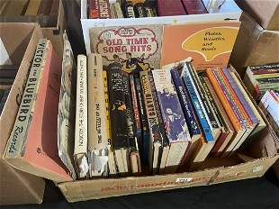 TWO BOXES OF VINTAGE BOOKS ON JAZZ