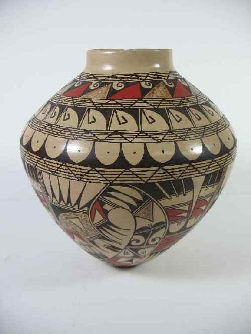 LARGE HOPI NATIVE AMERICAN POT SIGNED  SILAS PUFFER