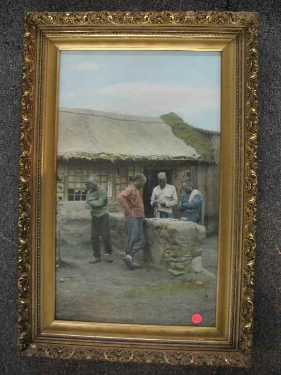 "930211: HAND COLORED CHINESE PHOTOGRAPH ""MAH JONG"" PLAY"
