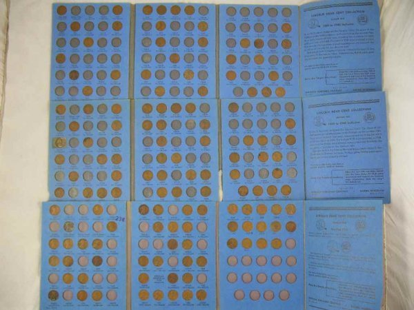 1104114: 2 LINCOLN CENT FOLDERS 1909-1940, AND LINCOLN