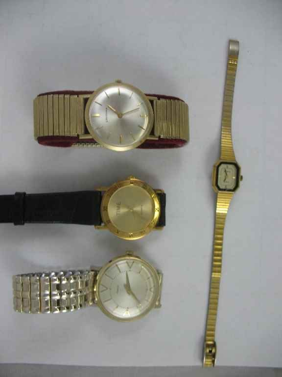 1104116: 4 VINTAGE WATCHES: TIME, TIMEX, LONGINES, ADVA
