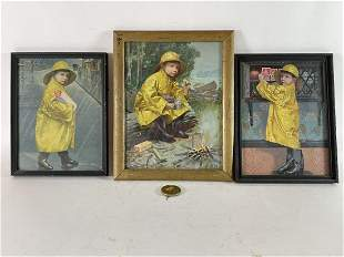 "3 FRAMED UNEEDA BISCUIT ADVERTISEMENTS TWO ARE 6.75"" X"