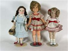 """A 19.5"""" SHIRLEY TEMPLE IDEAL PLASTIC DOLL , A 1966 14"""""""