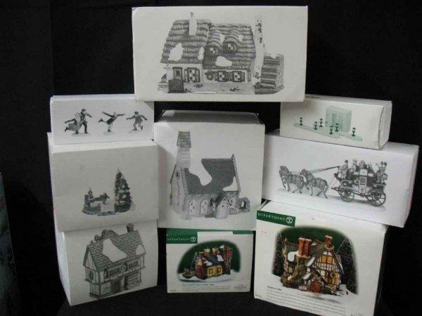 1209003: DEPARTMENT 56 CHRISTMAS VILLAGE 9 BOXES