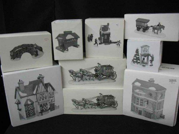 1209004: DEPARTMENT 56 CHRISTMAS VILLAGE 9 BOXES