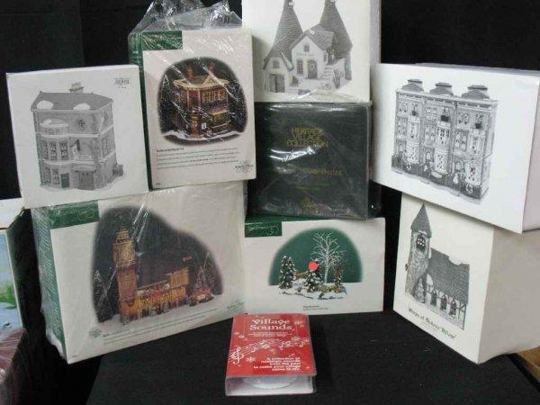 1209007: DEPARTMENT 56 CHRISTMAS VILLAGE 9 BOXES