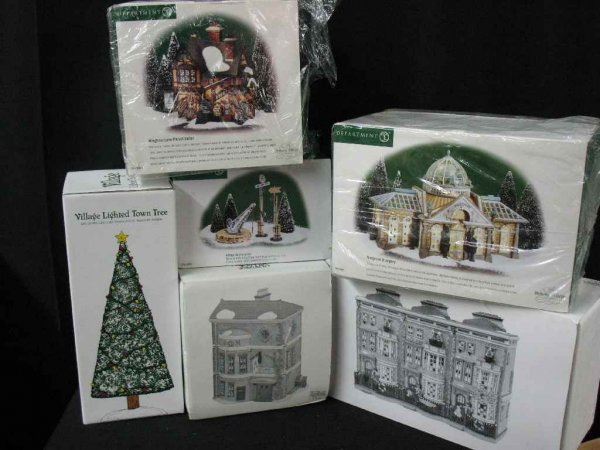 1209008: DEPARTMENT 56 CHRISTMAS VILLAGE 6 BOXES