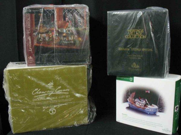 1209009: DEPARTMENT 56 CHRISTMAS VILLAGE 4 BOXES