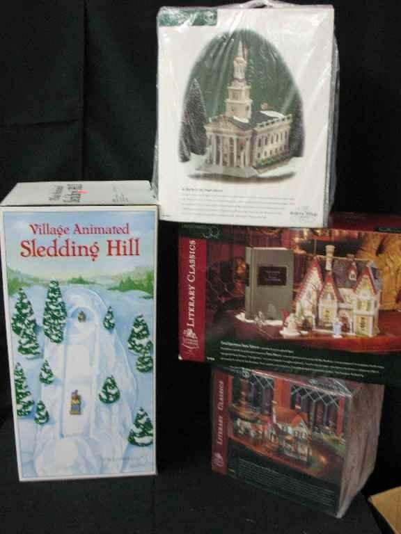 1209010: DEPARTMENT 56 CHRISTMAS VILLAGE 4 BOXES