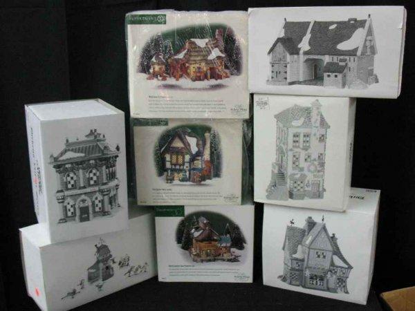 1209012: DEPARTMENT 56 CHRISTMAS VILLAGE 8 BOXES