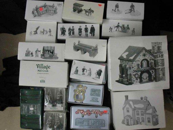 1209015: DEPARTMENT 56 CHRISTMAS VILLAGE 18 BOXES