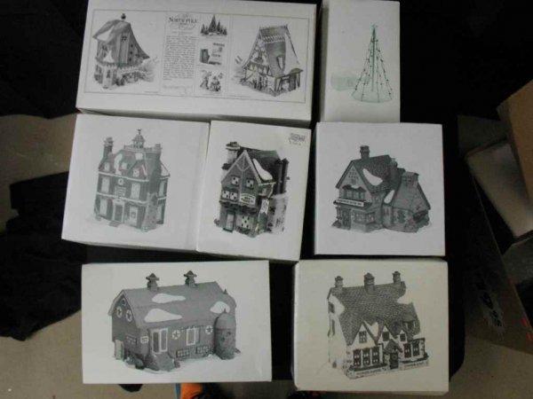 1209018: DEPARTMENT 56 CHRISTMAS VILLAGE 7 BOXES