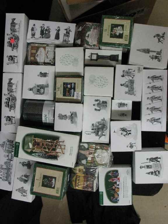 1209019: DEPARTMENT 56 CHRISTMAS VILLAGE 25+ BOXES