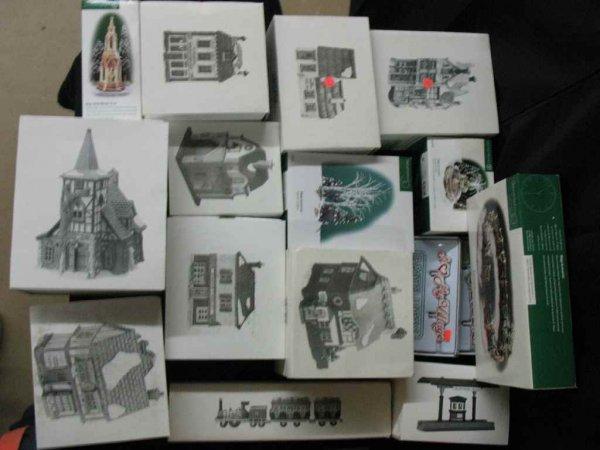 1209021: DEPARTMENT 56 CHRISTMAS VILLAGE 16 BOXES