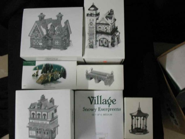 1209023: DEPARTMENT 56 CHRISTMAS VILLAGE 7 BOXES