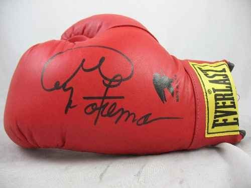 120110: BOXING GLOVE SIGNED BY GEORGE FOREMAN
