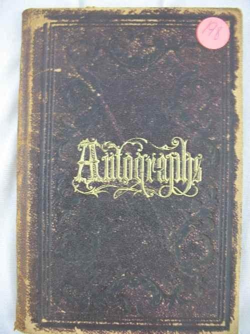 120198: 1867 FILLED AUTOGRAPH ALBUM