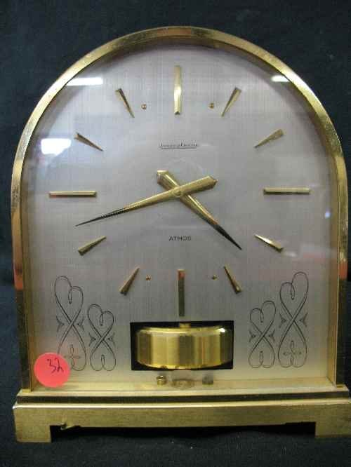 """203032: TOMBSTONE-SHAPED ATMOS CLOCK 8"""" TALL 6.5"""" WIDE"""