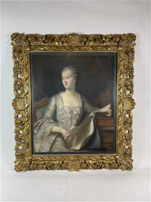 """PASTEL BY W.C. CHAMPNEY OF WOMAN 20.25"""" X 24"""" SIGHT,"""
