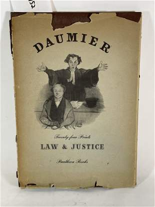 HONORE DAUMIER LAW AND JUSTICE LITHOGRAPH PORTFOLIO