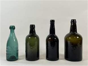 """FOUR EARLY BOTTLES, 9.5"""" AND SMALLER"""