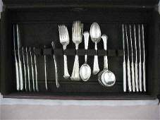 428194 CHIPPENDALE TOWLE STERLING SILVER SERVICE 40 P