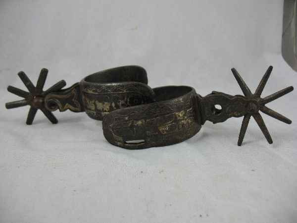 428003I: PAIR OF ANTIQUE SPURS