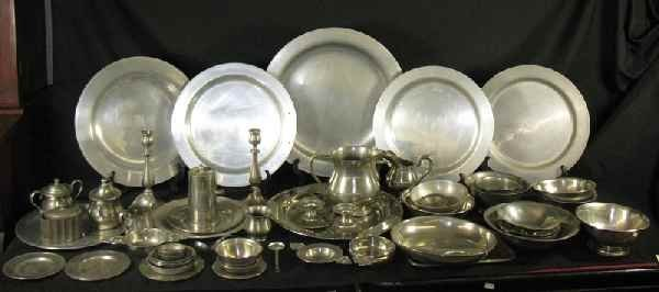 428003M: LESTER VAUGHAN'S PERSONAL PEWTER COLLECTION