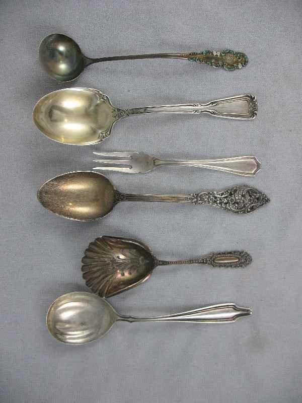 428003Q: 6 PIECES OF FANCY VICTORIAN STERLING SILVER 4.