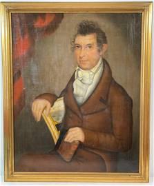 """AMMI PHILLIPS (1788-1865) PAINTING """"PORTRAIT OF WILLIAM"""