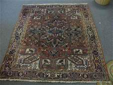 630001X LARGE ANTIQUE PERSIAN AREA RUG 89 X 110