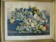 630005 CURRIER  IVES PRINT AMERICAN CHOICE FRUITS 2