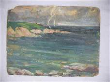 922159: OIL PAINTING BY THERESA BERNSTEIN OF ROCKPORT