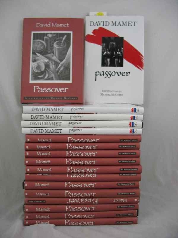 """915014: 18 COPIES OF DAVID MAMET """"PASSOVER"""" ILL. M. MCC"""