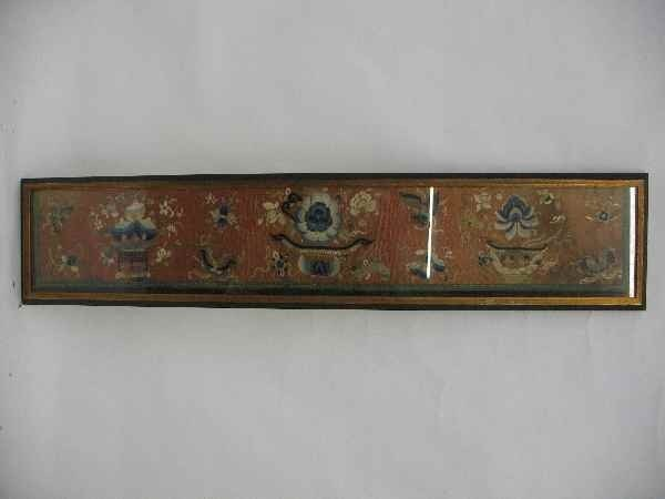1211009: 19TH CENTURY CHINESE NEEDLEPOINT IN FRAME