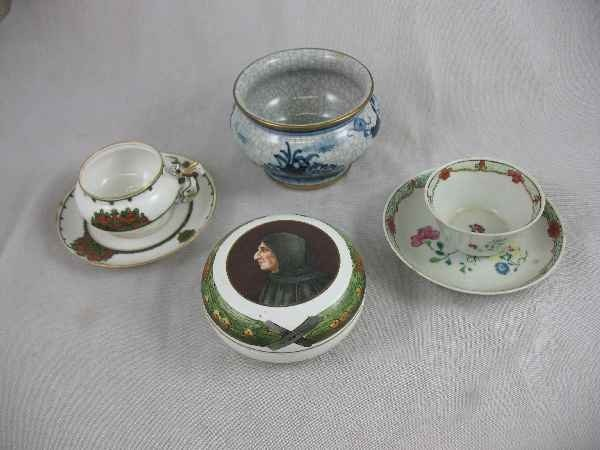 1211012: PORCELAIN GROUPING INCLUDES SIGNED CHINESE VAS