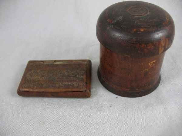 1211016: 19TH CENTURY BURLWOOD BOX WITH LAST SUPPER AND